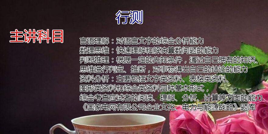 2019<font color='red'>国家电网</font>(二批)寒假班行测直播课