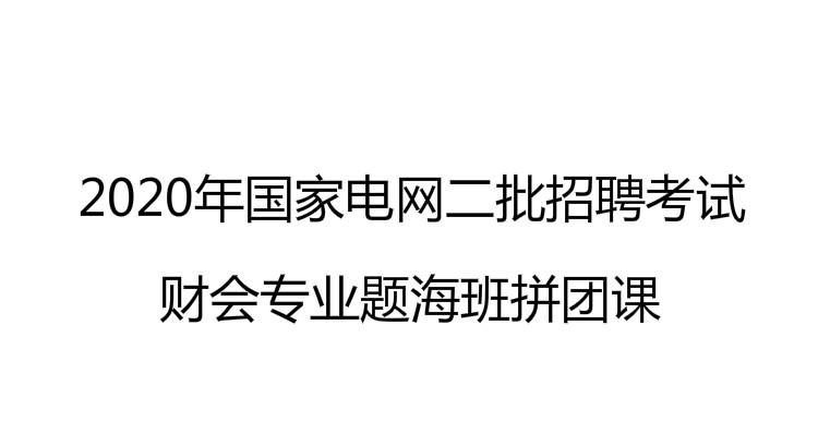 2020年国家电网二批招聘考试财会专业题海班拼团课