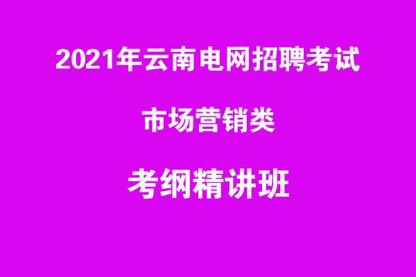 2021年云南电网招聘考试市场营销类考纲精讲班