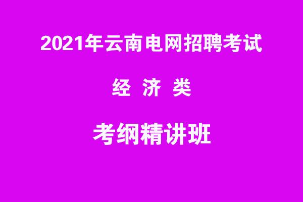 2021年云南电网招聘考试经济类考纲精讲班
