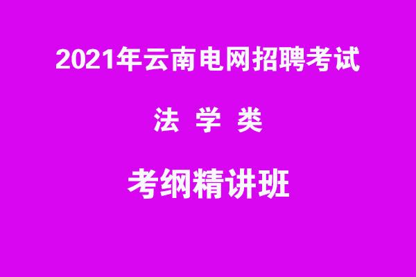 2021年云南电网招聘考试法学类考纲精讲班
