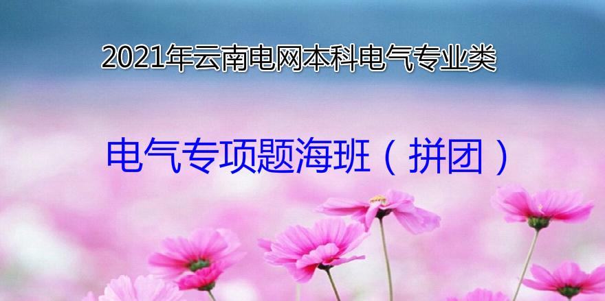 2021年云南电网招聘考试电气类(本科)-电气专项题海班(拼团)